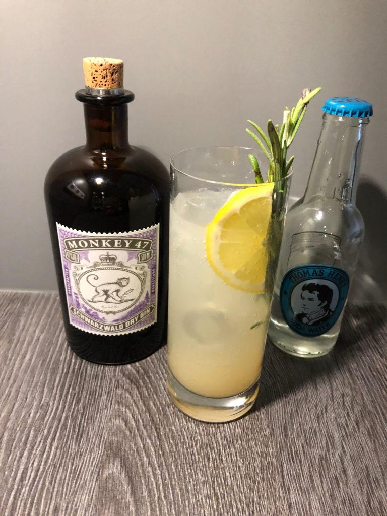 Gincocktail, GINfektion, Monkey 47 Gin, Ginfizz, Monkey 47 Gin cocktail, Thomas Henry Soda Wasser, Sodawater