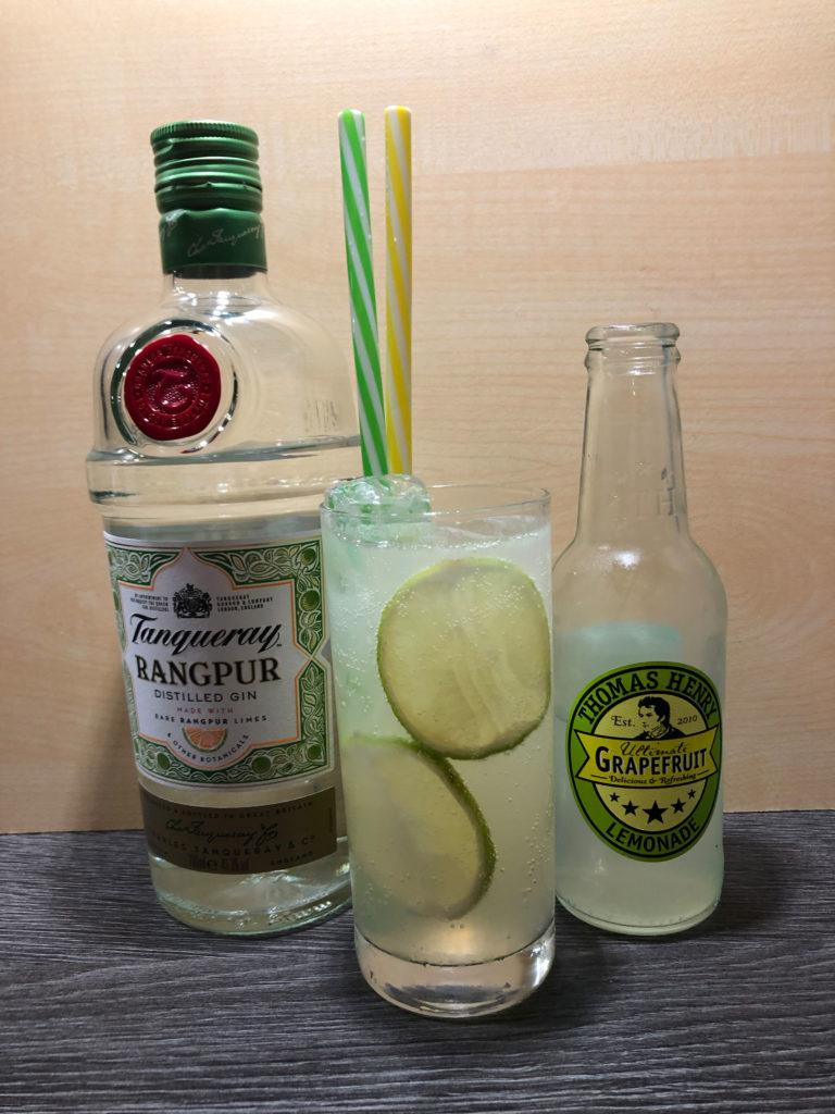 Tanqueray Rangpur in tollem Sommerdrink erfrischend leichter Longdrink mit Thomas Henry Grapefruit Lemonade GINfektion
